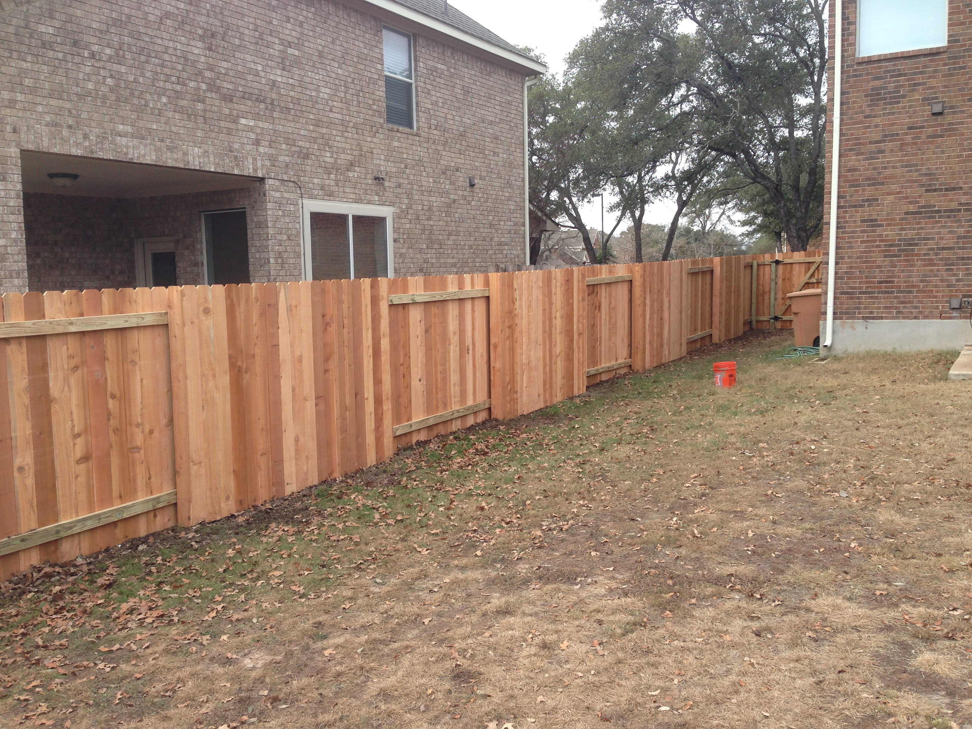 Diy fence project flash fence of college station for Good neighbor fence